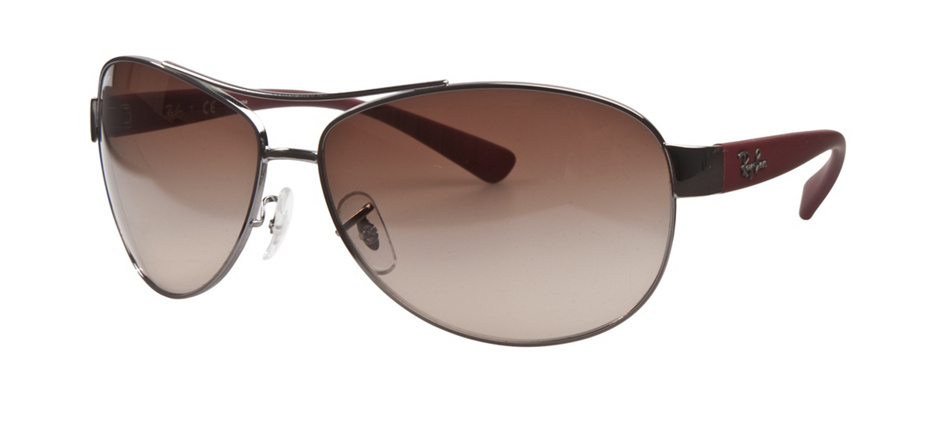 product image of Ray-Ban RB3386 Gunmetal Red Beet Rubber