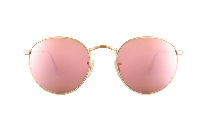 best place to buy ray bans dozu  product image of Ray-Ban RB3447-50 Gold Mirror