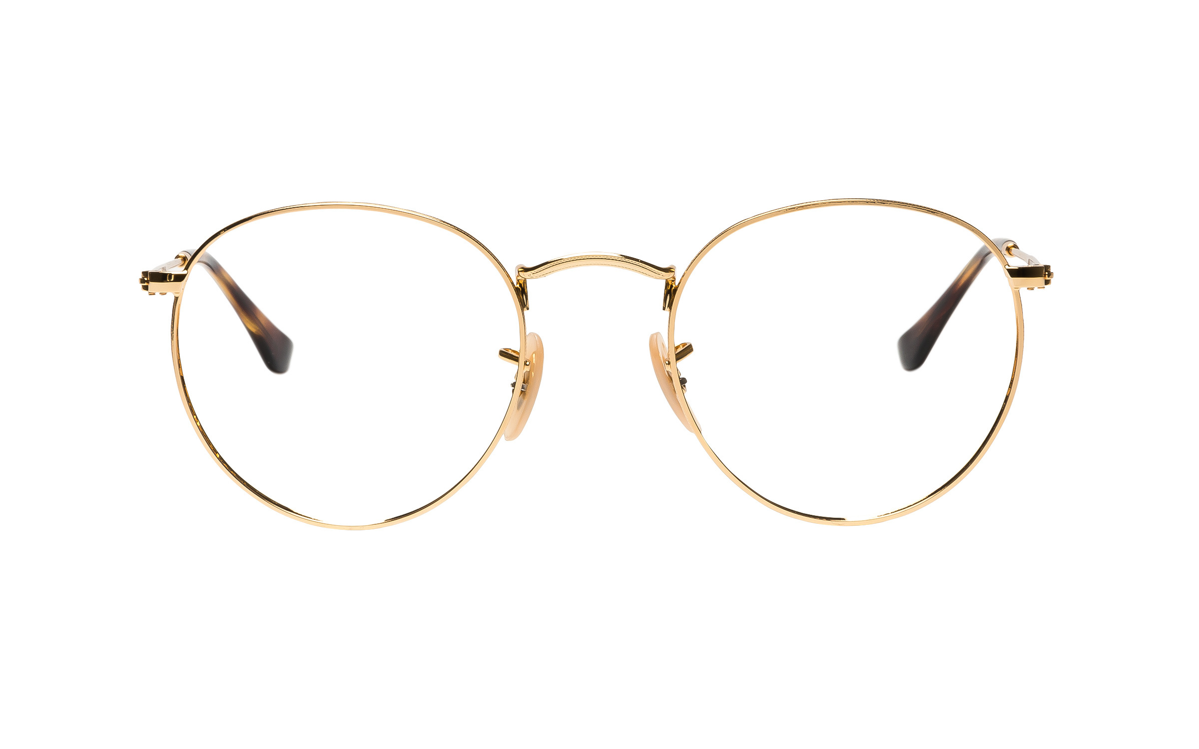 Ray-Ban RX3447V 2500 50 Eyeglasses and Frame in Gold | Acetate/Metal - Online Coastal