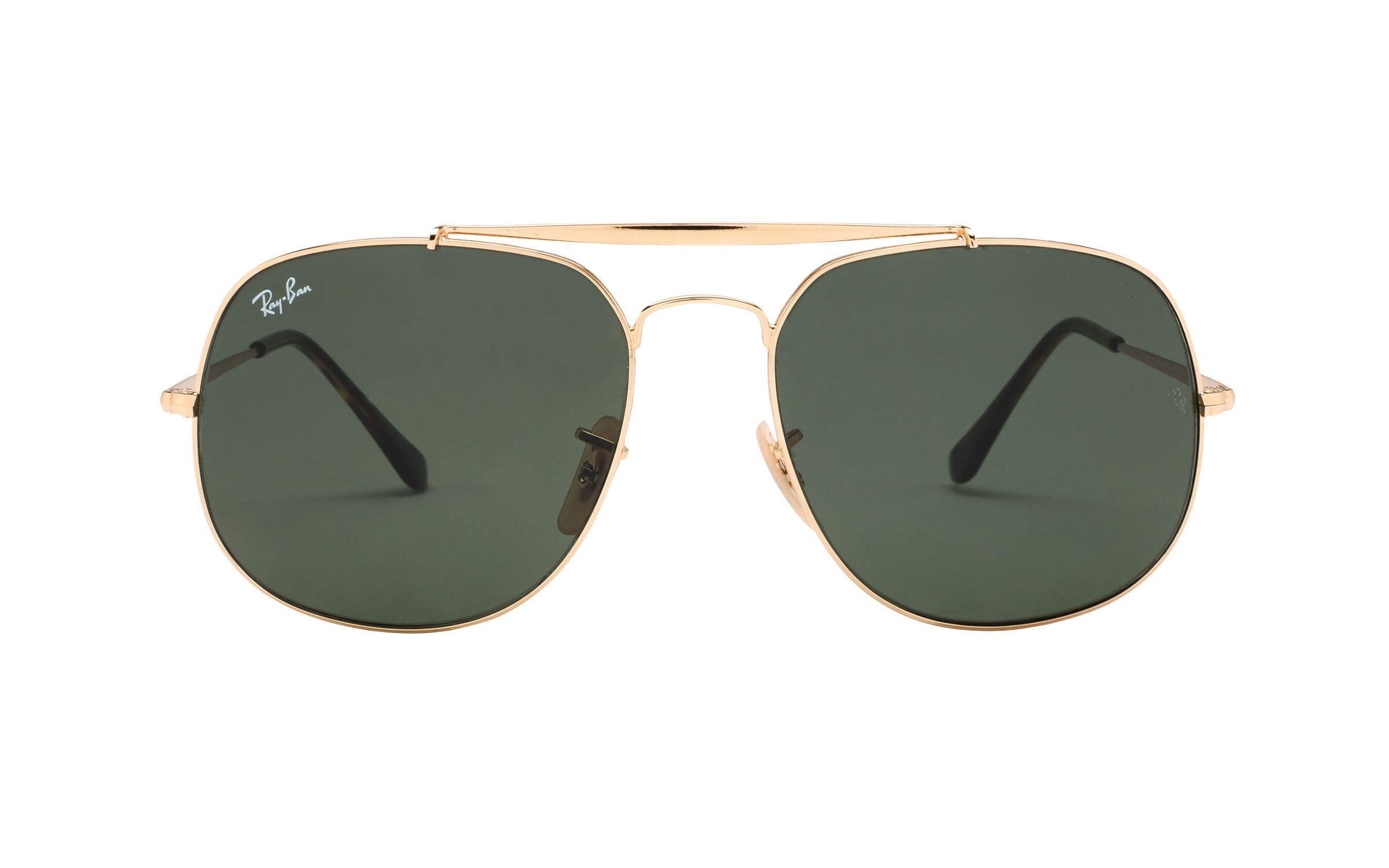 RayBan Ray-Ban RB3561 001 57 Sunglasses in Gold | Plastic/Metal - Online Coastal