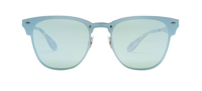 product image of Ray-Ban Blaze Clubmaster Silver Dark Green Silver Mirror