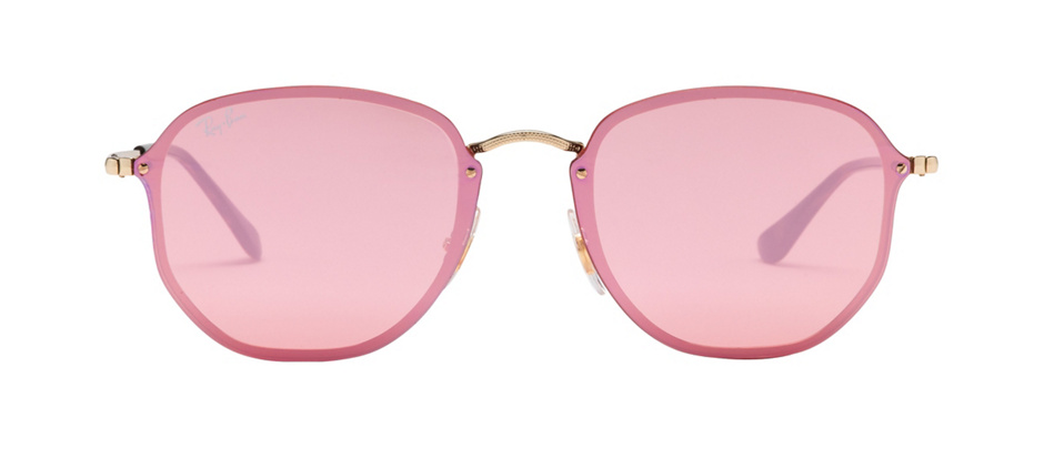 fbcb413a32 product image of Ray-Ban Blaze Hexagonal Gold Pink Mirror