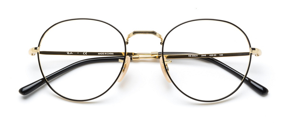 product image of Ray-Ban RB3582V-49 Black Gold
