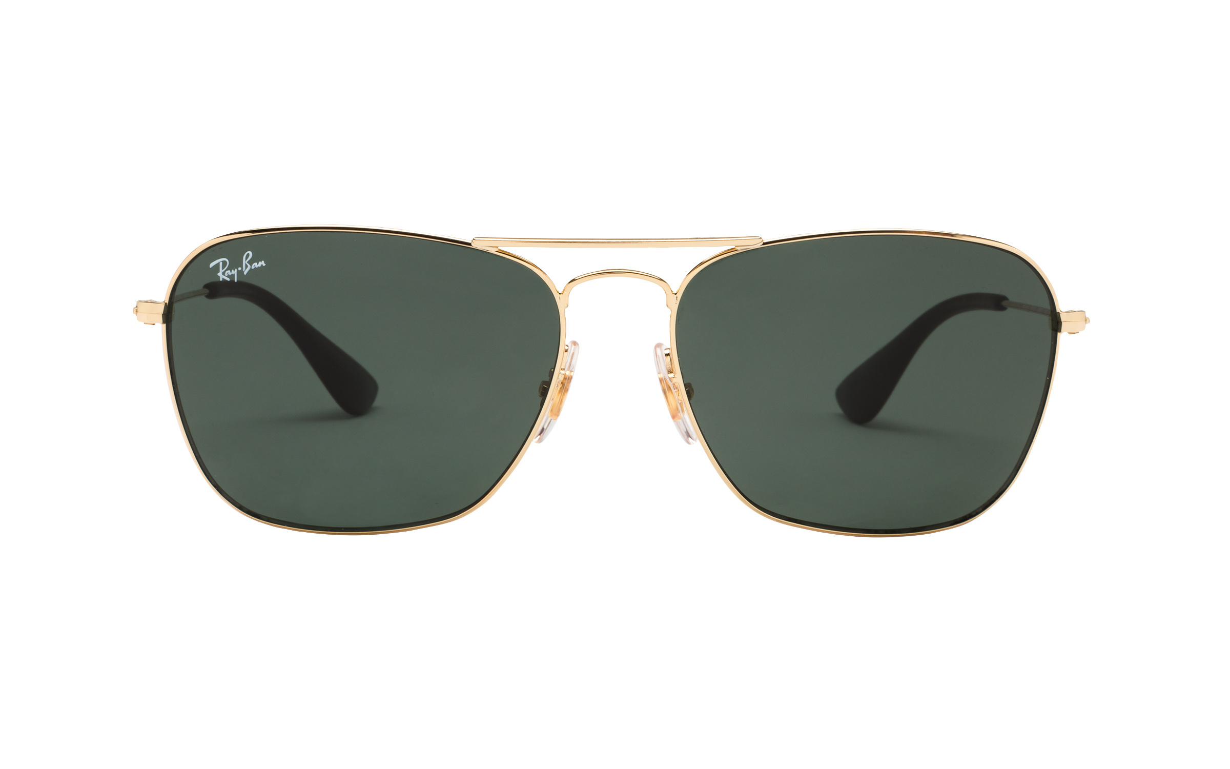 RayBan Ray-Ban RB3610 001/71 58 Sunglasses in Gold | Plastic/Metal - Online Coastal