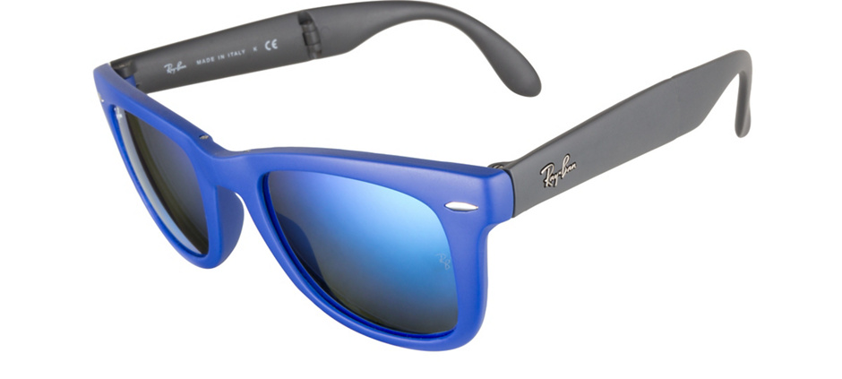 product image of Ray-Ban RB4105-50 Matte Blue Mirror