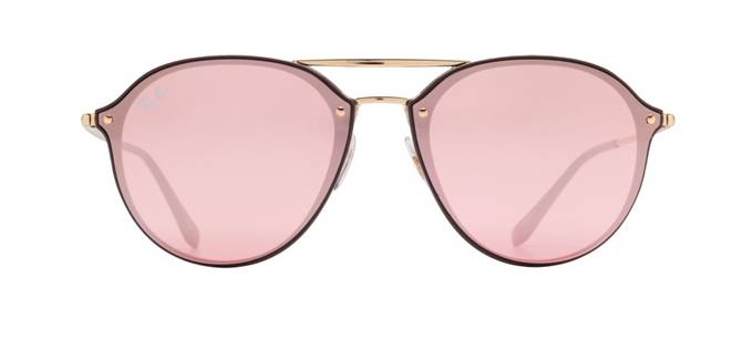 product image of Ray-Ban Blaze Double Bridge Brown Gold Pink Mirror
