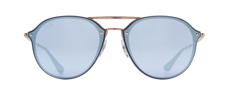 product image of Ray-Ban Blaze Double Bridge Grey Bronze Blue Silver Mirror