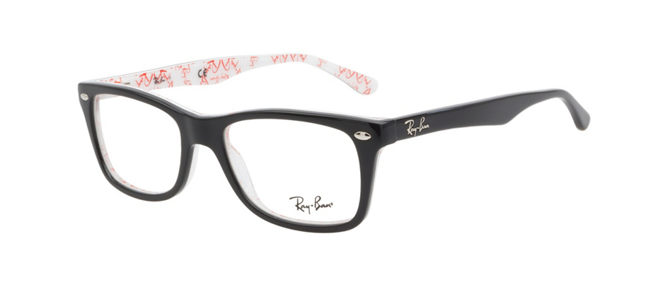 86ab931c44b21 product image of Ray-Ban RB5228 Black White Texture