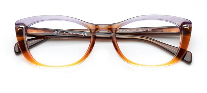 6264ffe4f7ba8 product image of Ray-Ban RB5366-54 Trigradient Brown Violet