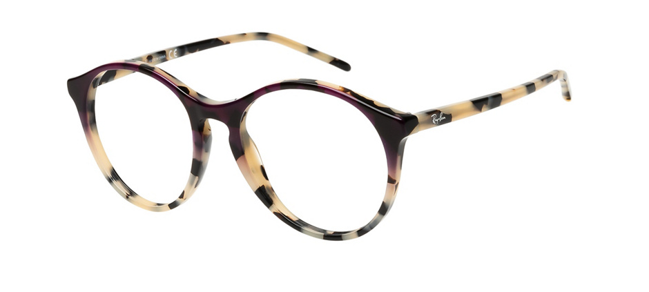 product image of Ray-Ban RB5371-53 Beige havane dégradé violet