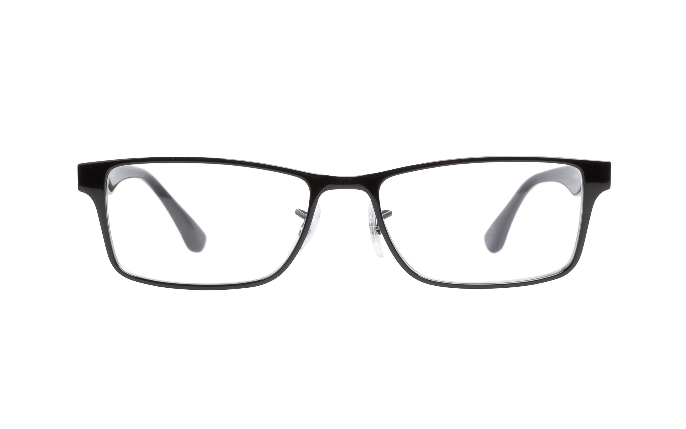 Luxottica Ray-Ban RB6238 2509 Eyeglasses and Frame in Shiny Black | Metal - Online Coastal