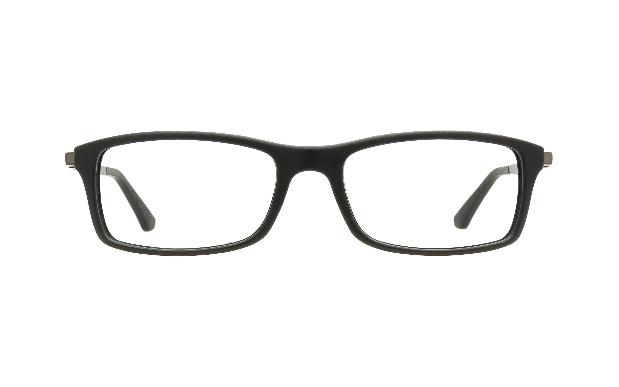 http://www.coastal.com/ - Luxottica Ray-Ban RB7017 5197 Eyeglasses and Frame in Black/Green | Metal – Online Coastal