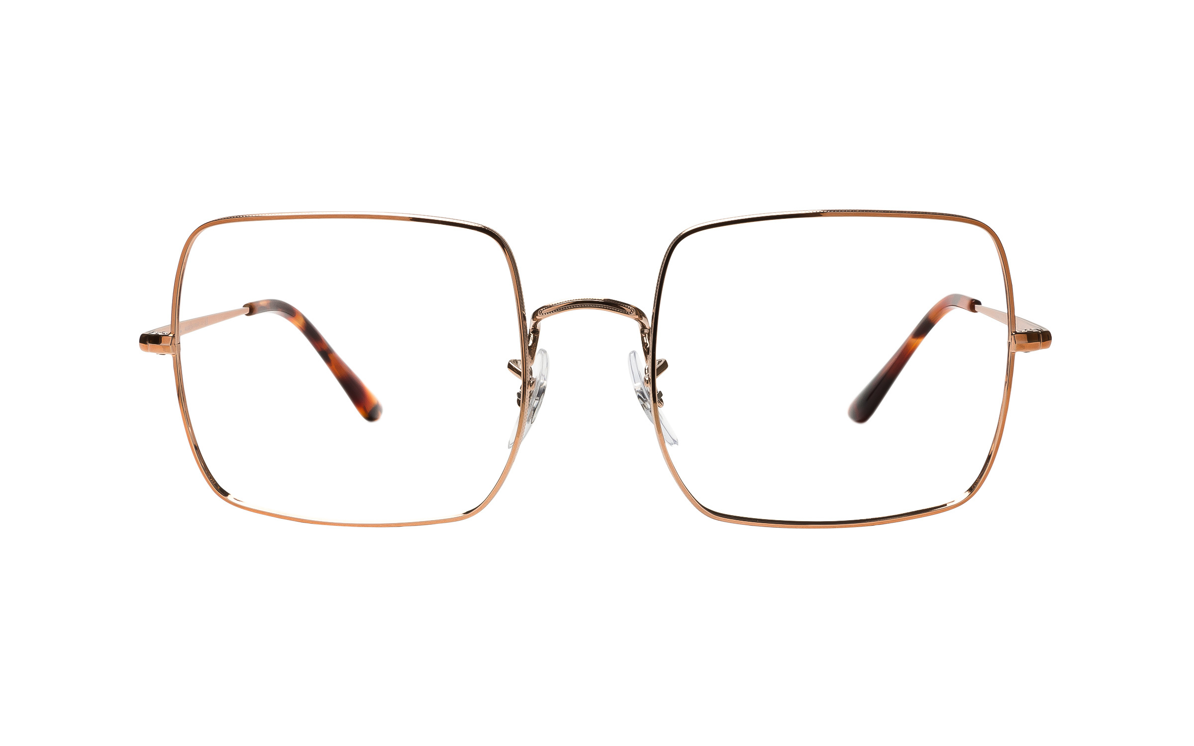 Luxottica Ray-Ban Square 1971 RX1971V 2943 (54) Eyeglasses and Frame in Copper Gold/Brown | Plastic/Metal - Online Coastal