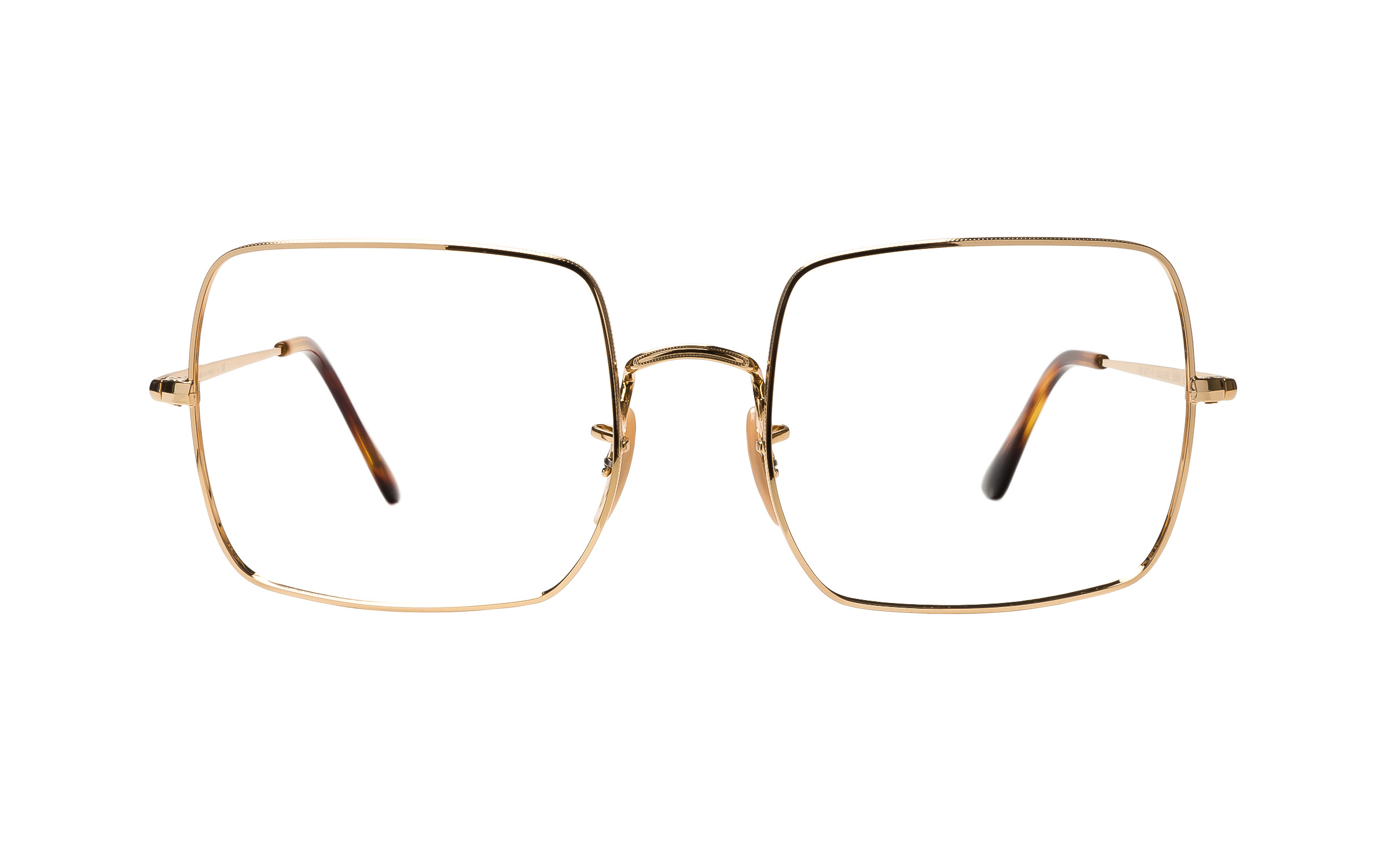 Luxottica Ray-Ban Square 1971 RX1971V 2500 (54) Eyeglasses and Frame in Gold | Plastic/Metal - Online Coastal