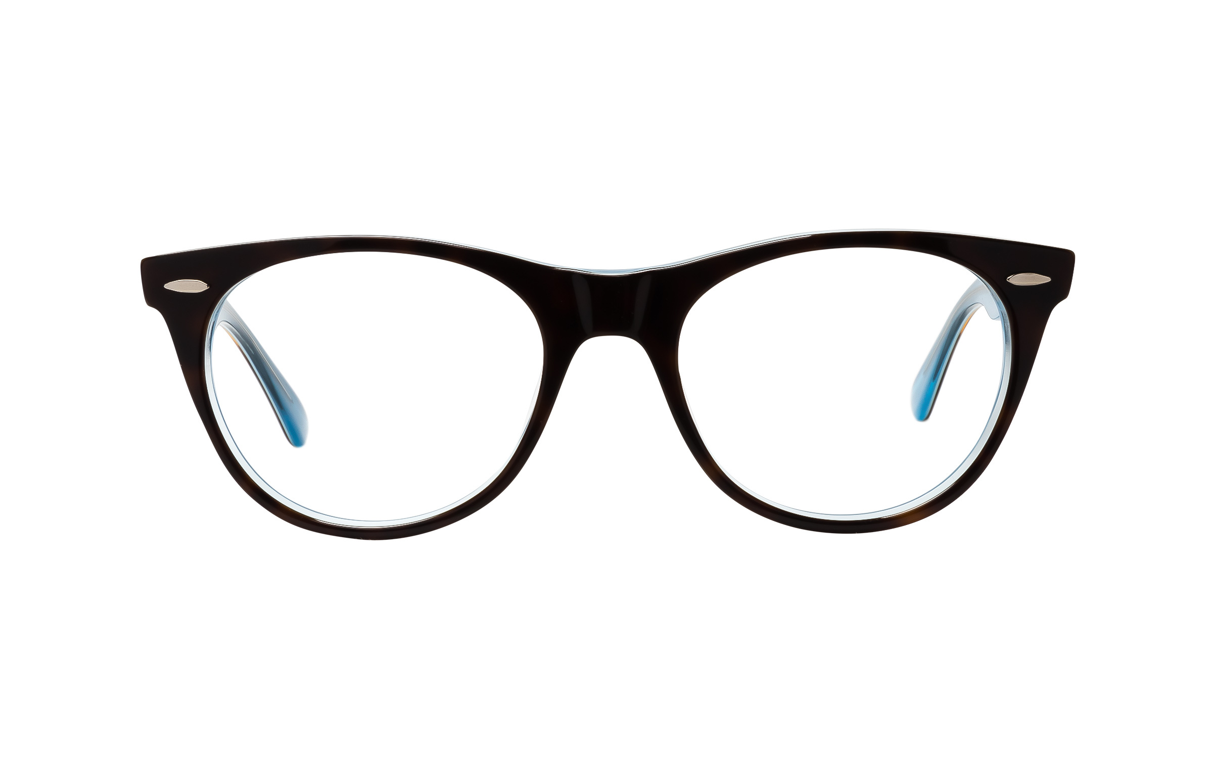 Ray-Ban Wayfarer Wayfarer II RX2185V 5883 (50) Eyeglasses and Frame in Brown/Tortoise | Acetate/Metal - Online Coastal