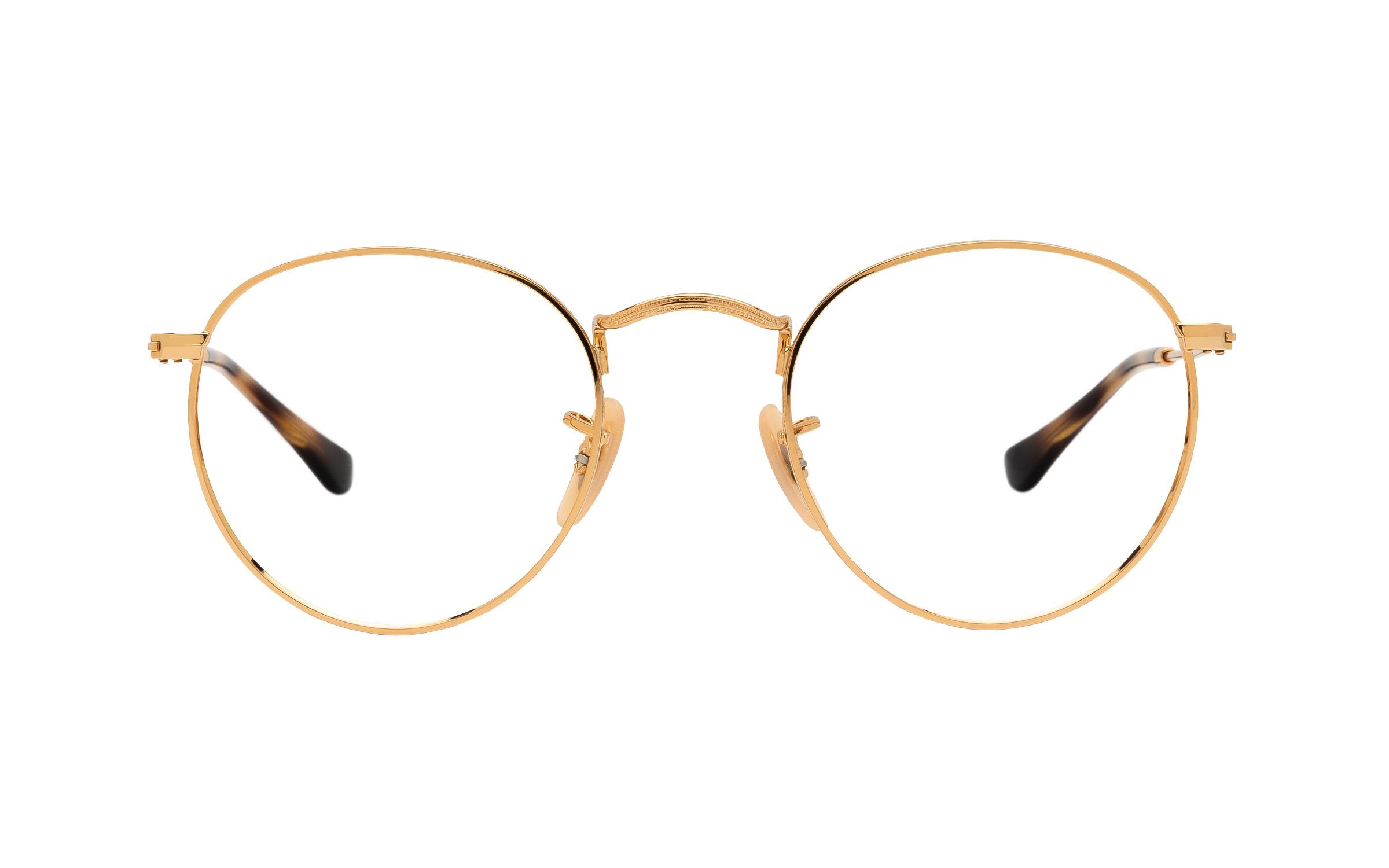 http://www.coastal.com/ - Ray-Ban RX3447V 2500 (47) Eyeglasses and Frame in Gold | Metal – Online Coastal
