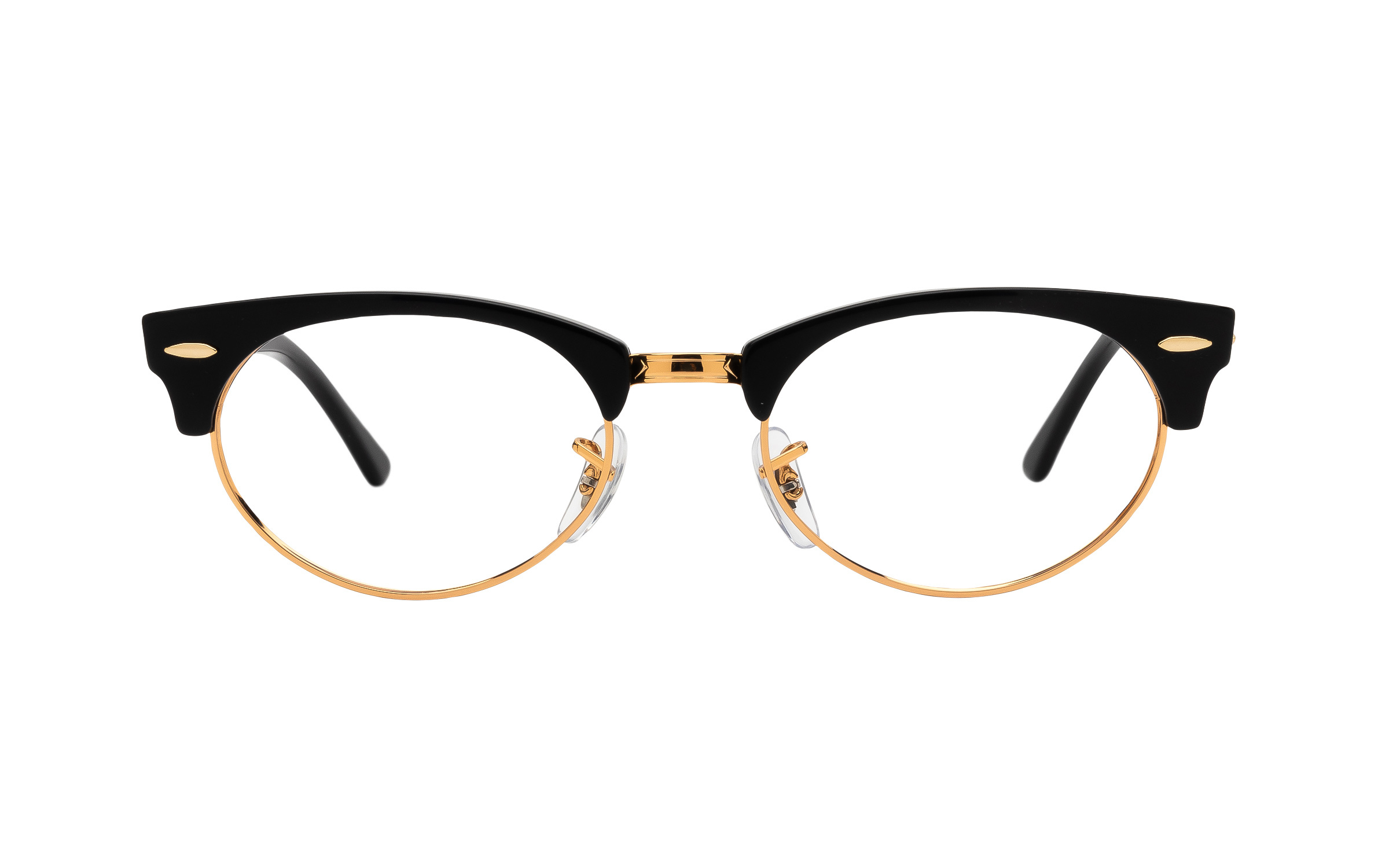 http://www.coastal.com/ - Ray-Ban Clubmaster Oval RX3946V 8057 (50) Eyeglasses and Frame in Black | Acetate/Metal – Online Coastal