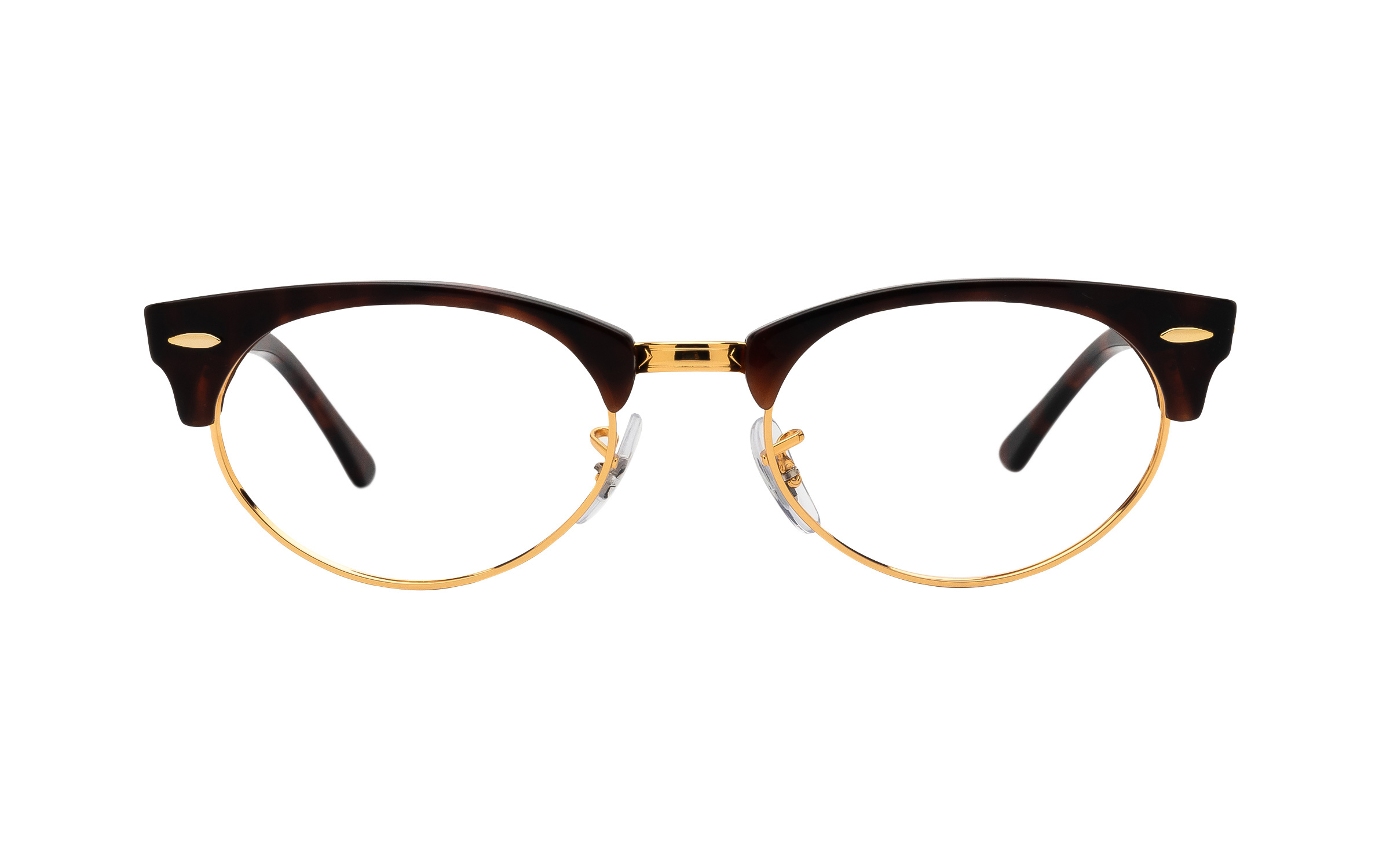 http://www.coastal.com/ - Ray-Ban Clubmaster Oval RX3946V 8058 (50) Eyeglasses and Frame in Brown/Tortoise   Acetate/Metal – Online Coastal
