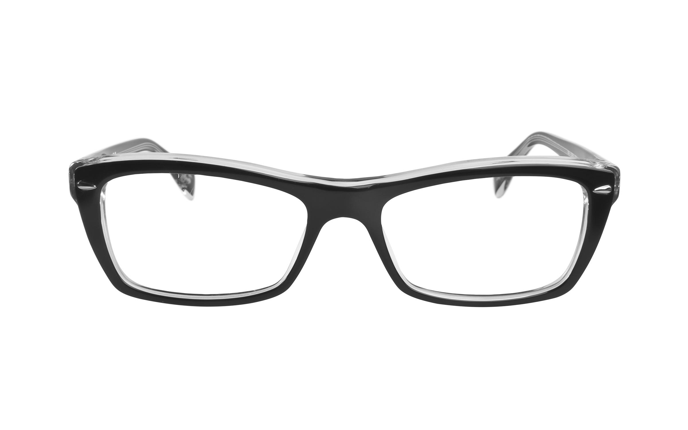 Ray-Ban RB5255 2034 Eyeglasses and Frame in Crystal Black/Clear | Acetate/Metal - Online Coastal