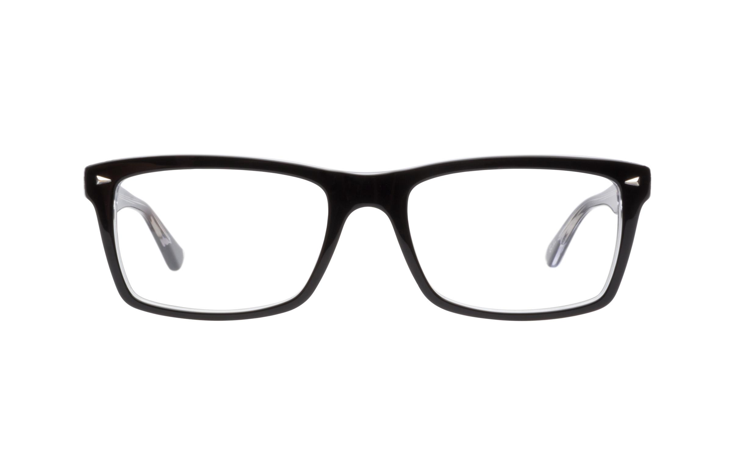Ray-Ban RB5287 2034 Eyeglasses and Frame in Transparent Black | Acetate - Online Coastal