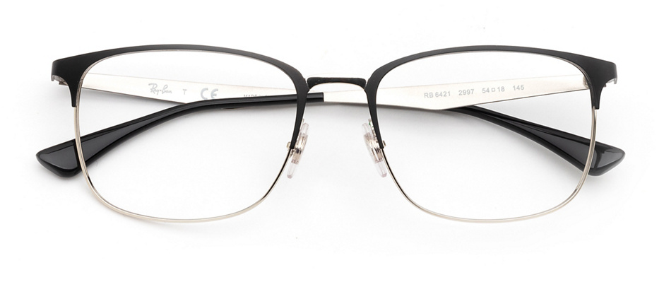 product image of Ray-Ban RX6421-54 Matte Black Silver