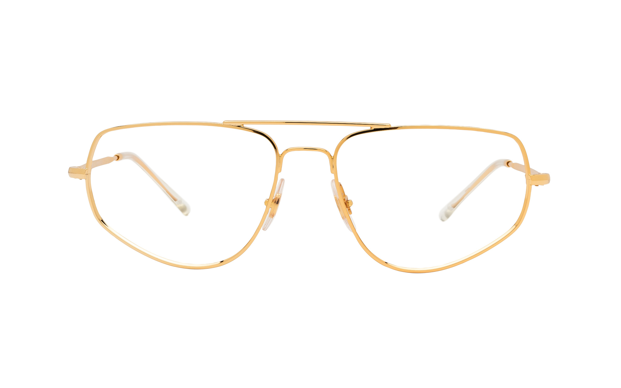 http://www.coastal.com/ - Ray-Ban RX6455 2500 (55) Eyeglasses and Frame in Gold   Metal – Online Coastal