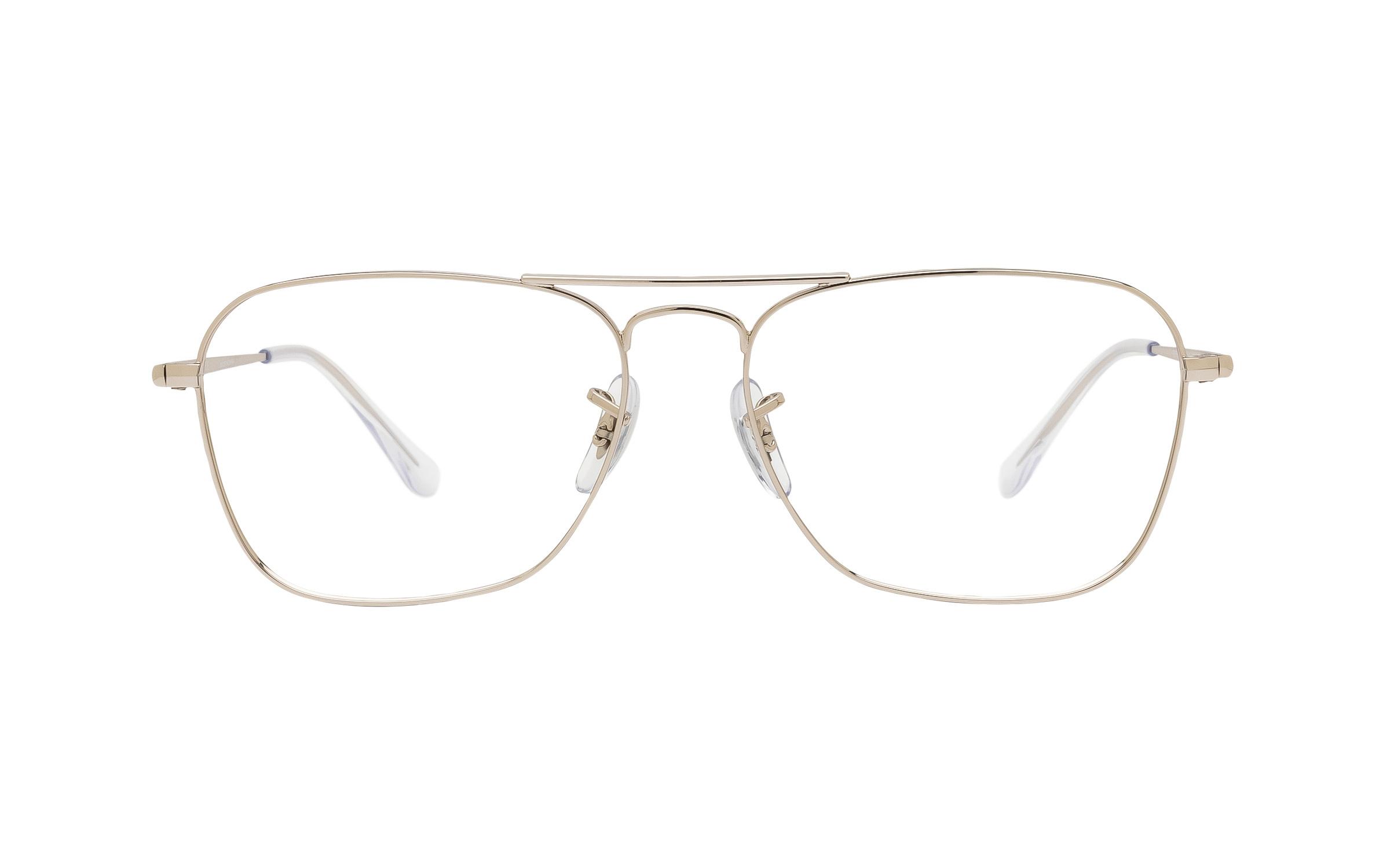http://www.coastal.com/ - Ray-Ban Caravan II RX6536 2501 (55) Eyeglasses and Frame in Silver – Online Coastal