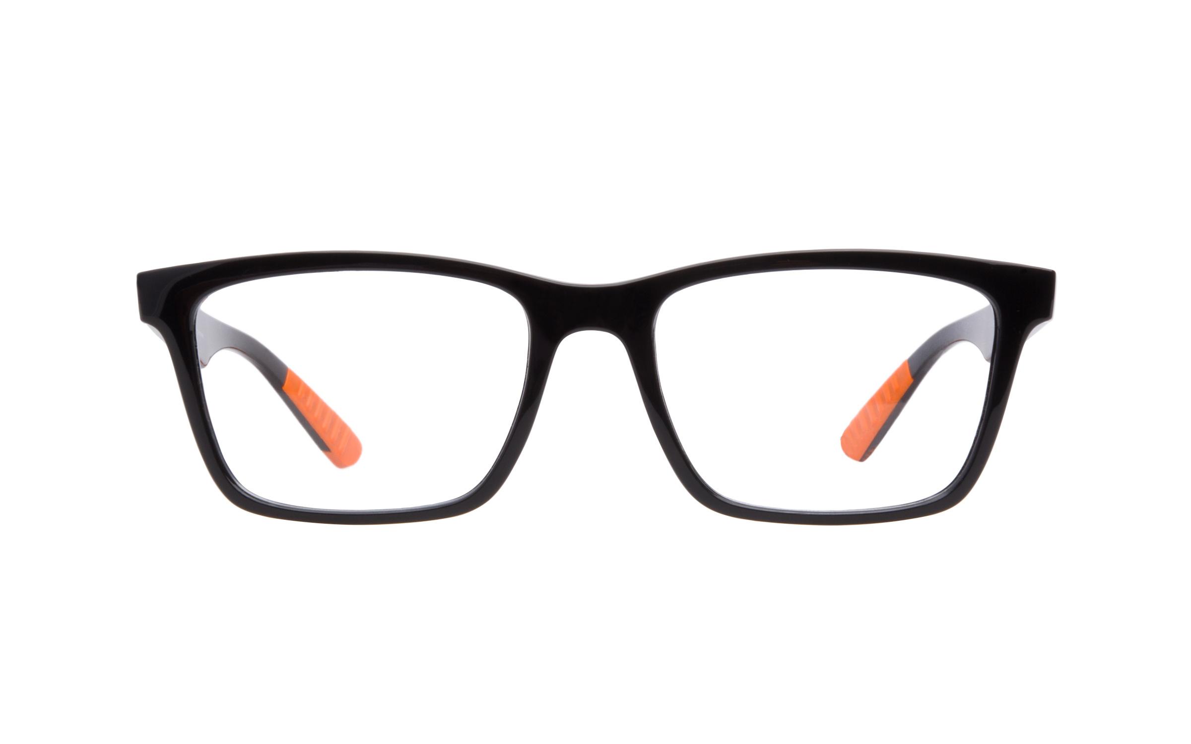 Luxottica Ray-Ban RB7025 5417 Eyeglasses and Frame in Black/Orange | Acetate - Online Coastal