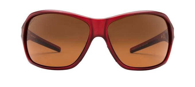 product image of Ryders Carlita Dark Red Matte Crystal Brown Lens
