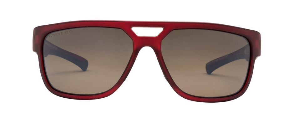 product image of Ryders Cakewalk Red Matte Crystal Polarized Brown Flash