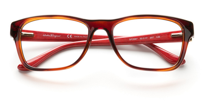 product image of Salvatore Ferragamo SF2687 Havana Red Wood