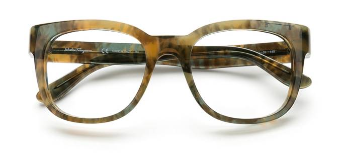 product image of Salvatore Ferragamo SF2725 Green Brown Marble
