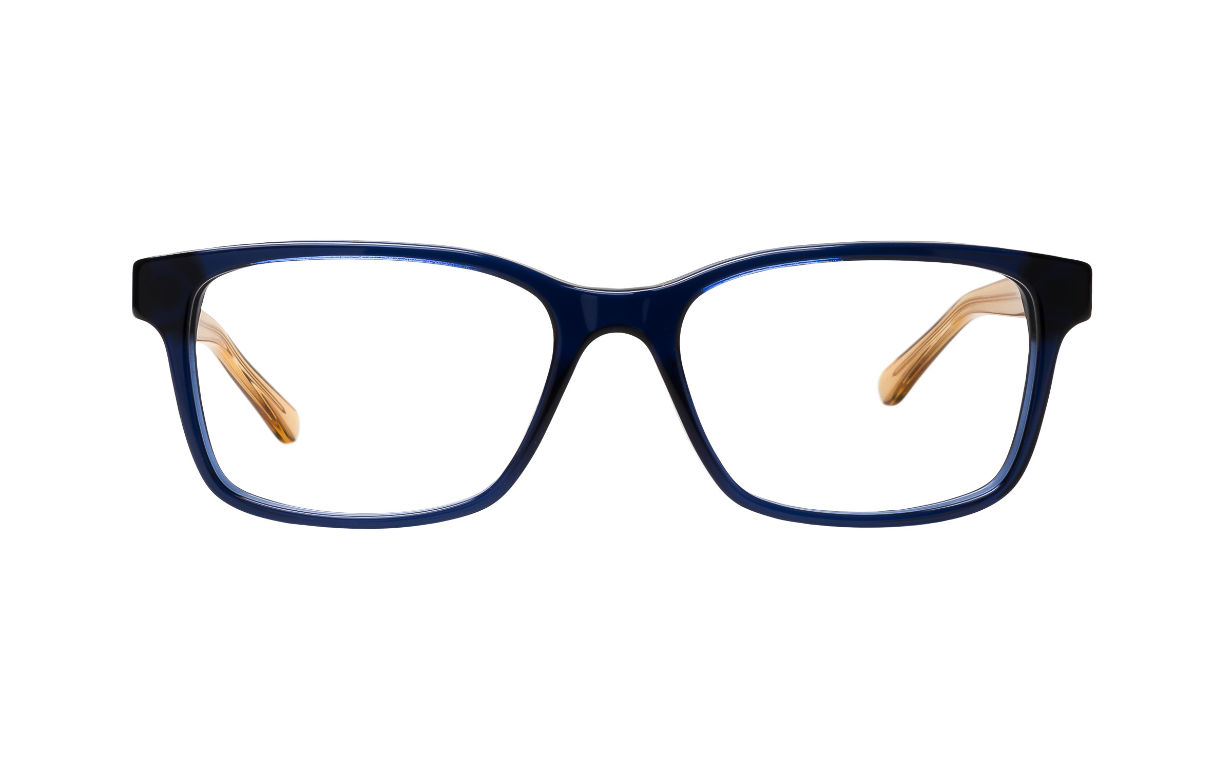 Tory Burch TY2064 1562 Pinot (52) Eyeglasses and Frame in Navy Blue/Yellow/Clear Blue - Online Coastal