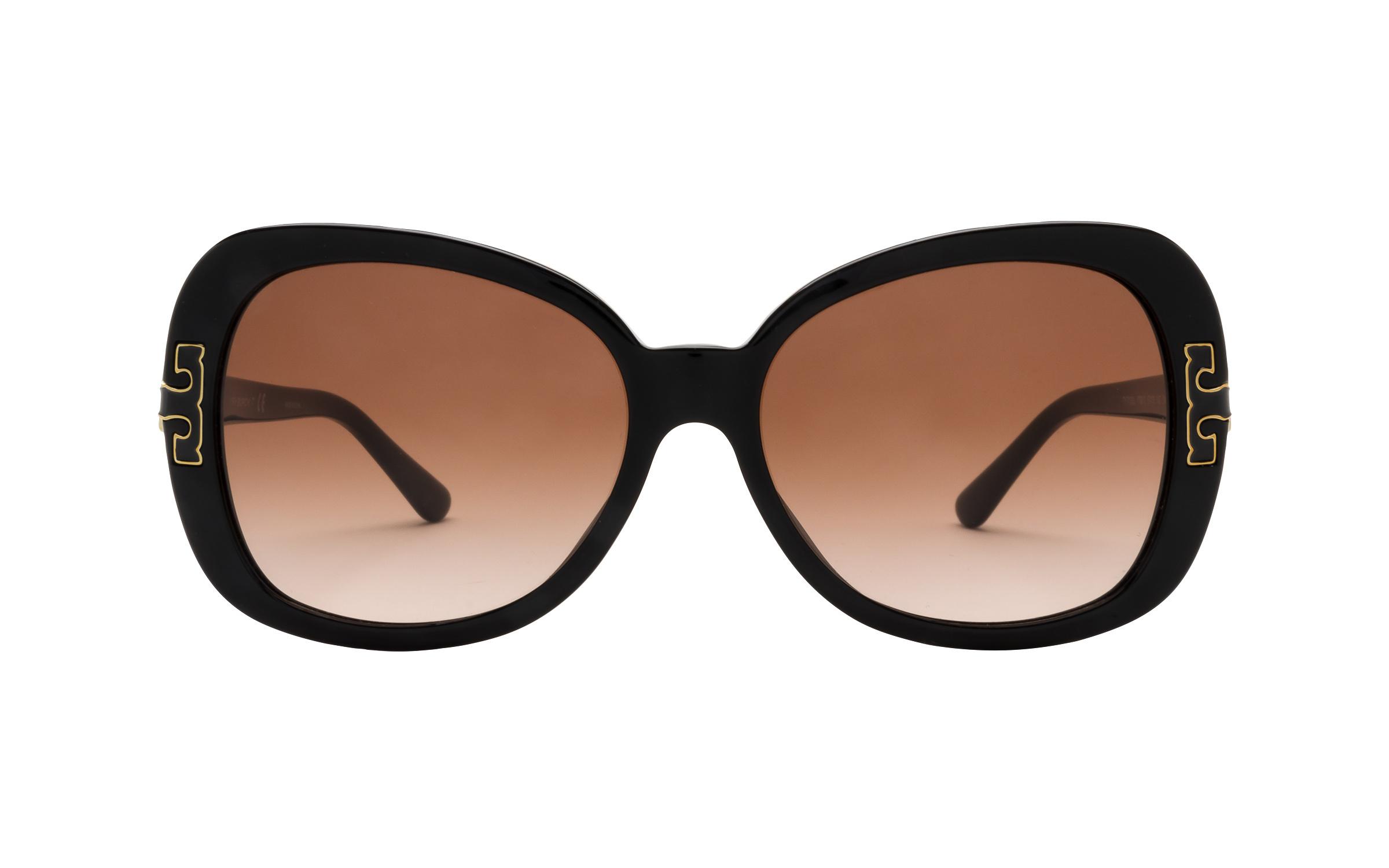 Tory Burch TY7133U 1709/13 57 Sunglasses in Black | Acetate - Online Coastal