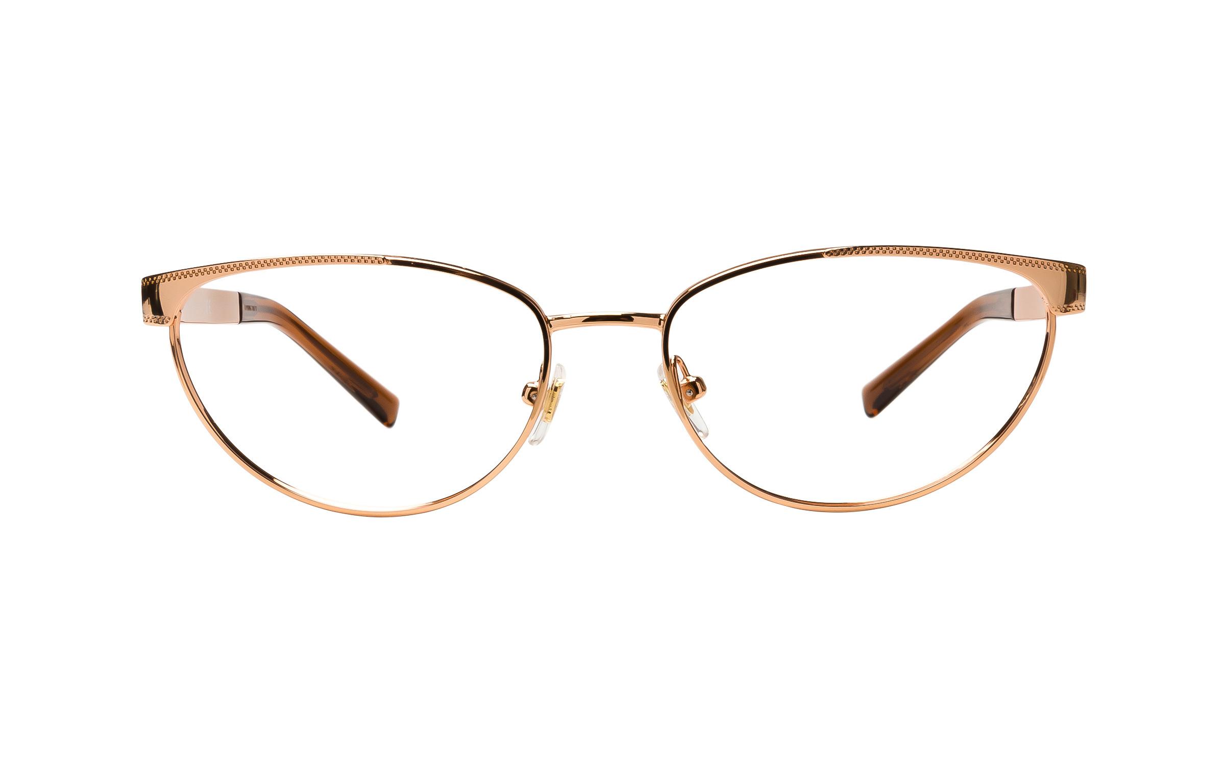 Versace VE1260 1412 (52) Eyeglasses and Frame in Rose Gold/Pink | Plastic/Metal - Online Coastal