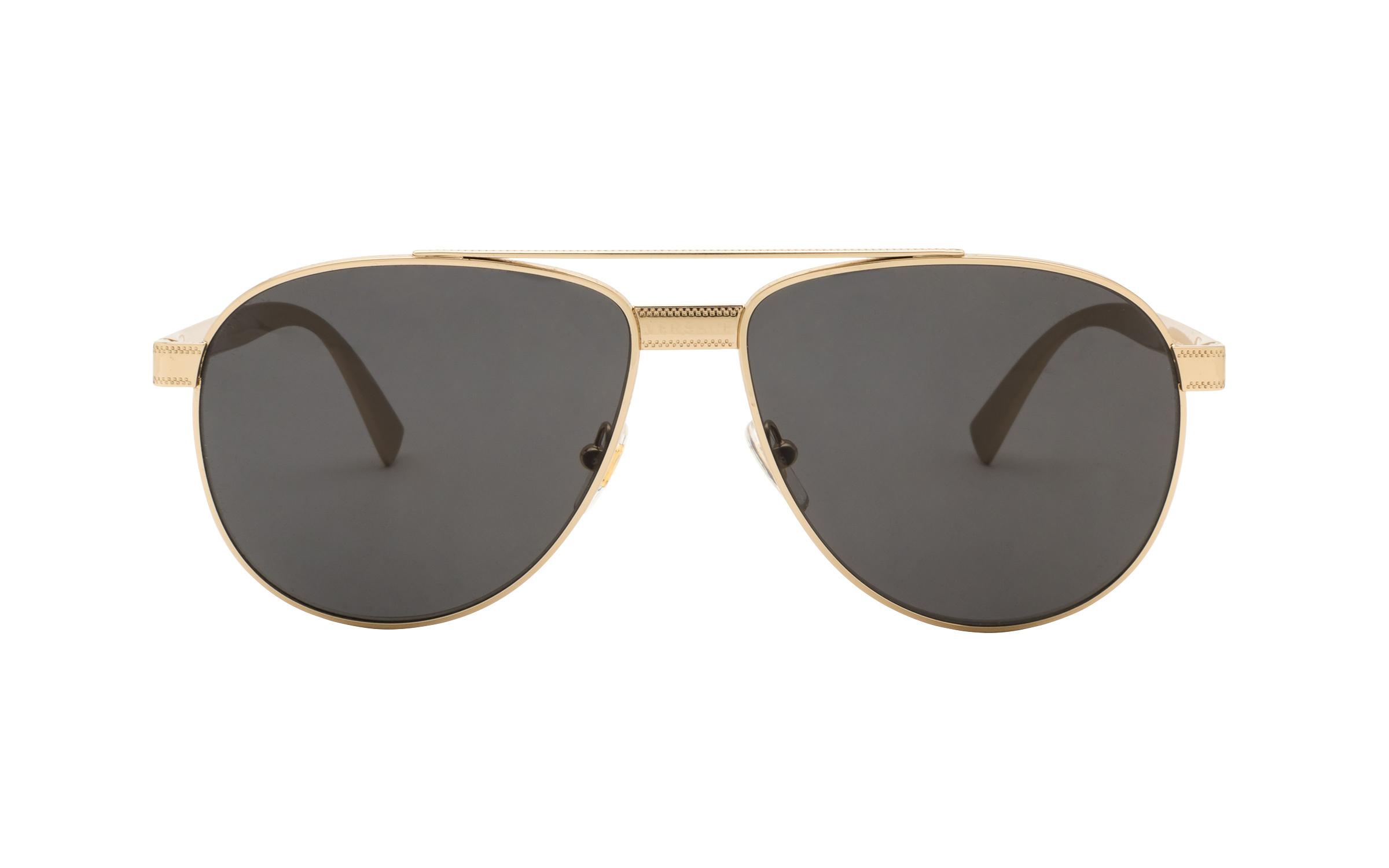 http://www.coastal.com/ - Luxottica Versace VE2209 125287 58 Sunglasses in Gold | Plastic/Metal – Online Coastal