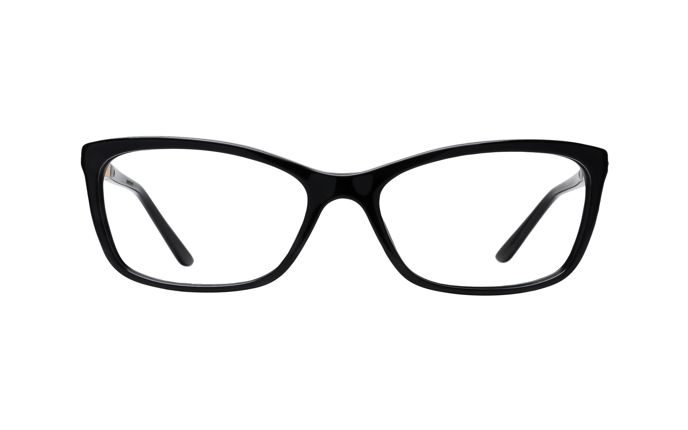 Versace Women's VE3186 GB1 (54) Eyeglasses and Frame in Black | Acetate/Metal