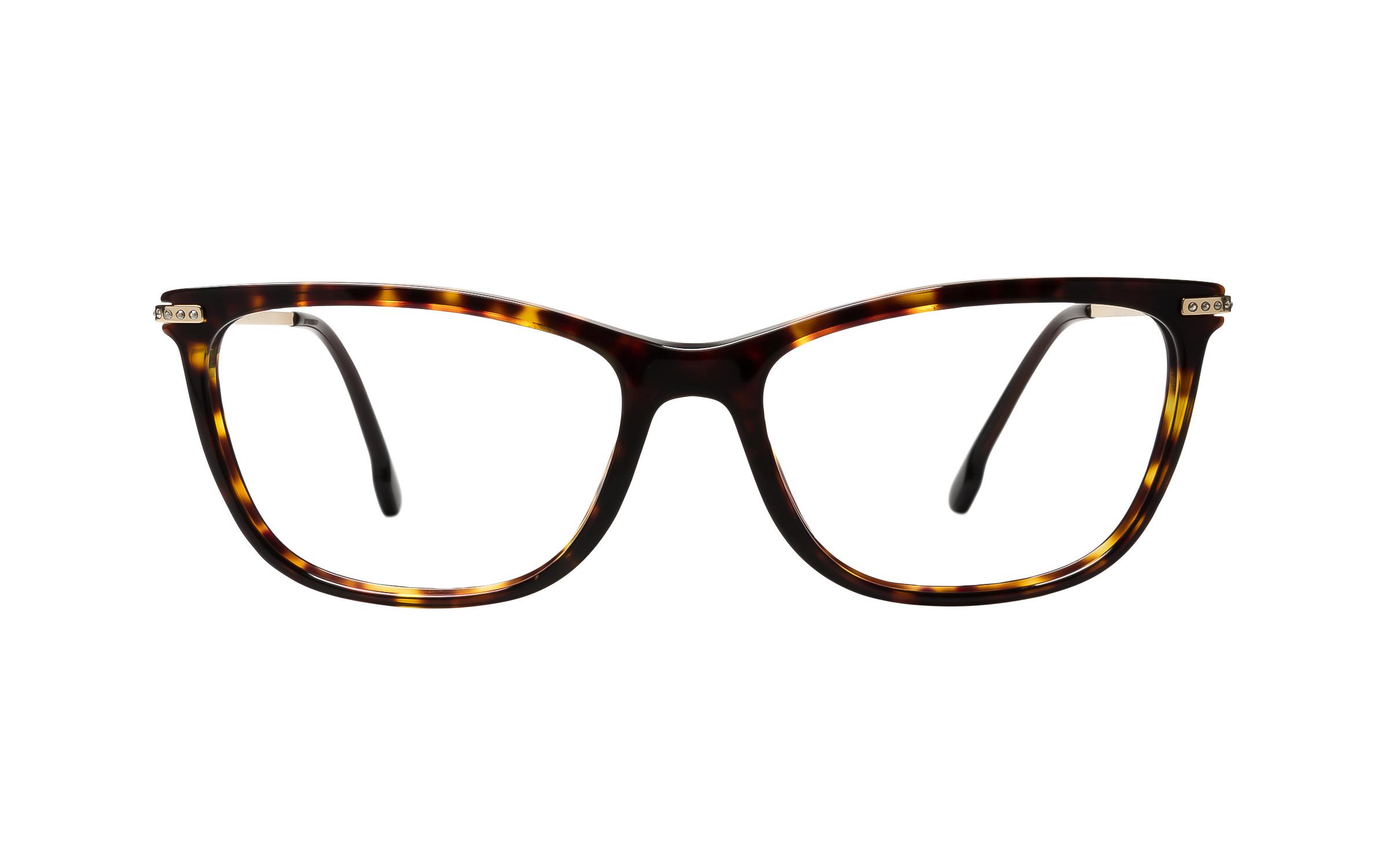 Versace VE3274B 108 (54) Eyeglasses and Frame in Brown/Tortoise | Acetate/Metal - Online Coastal