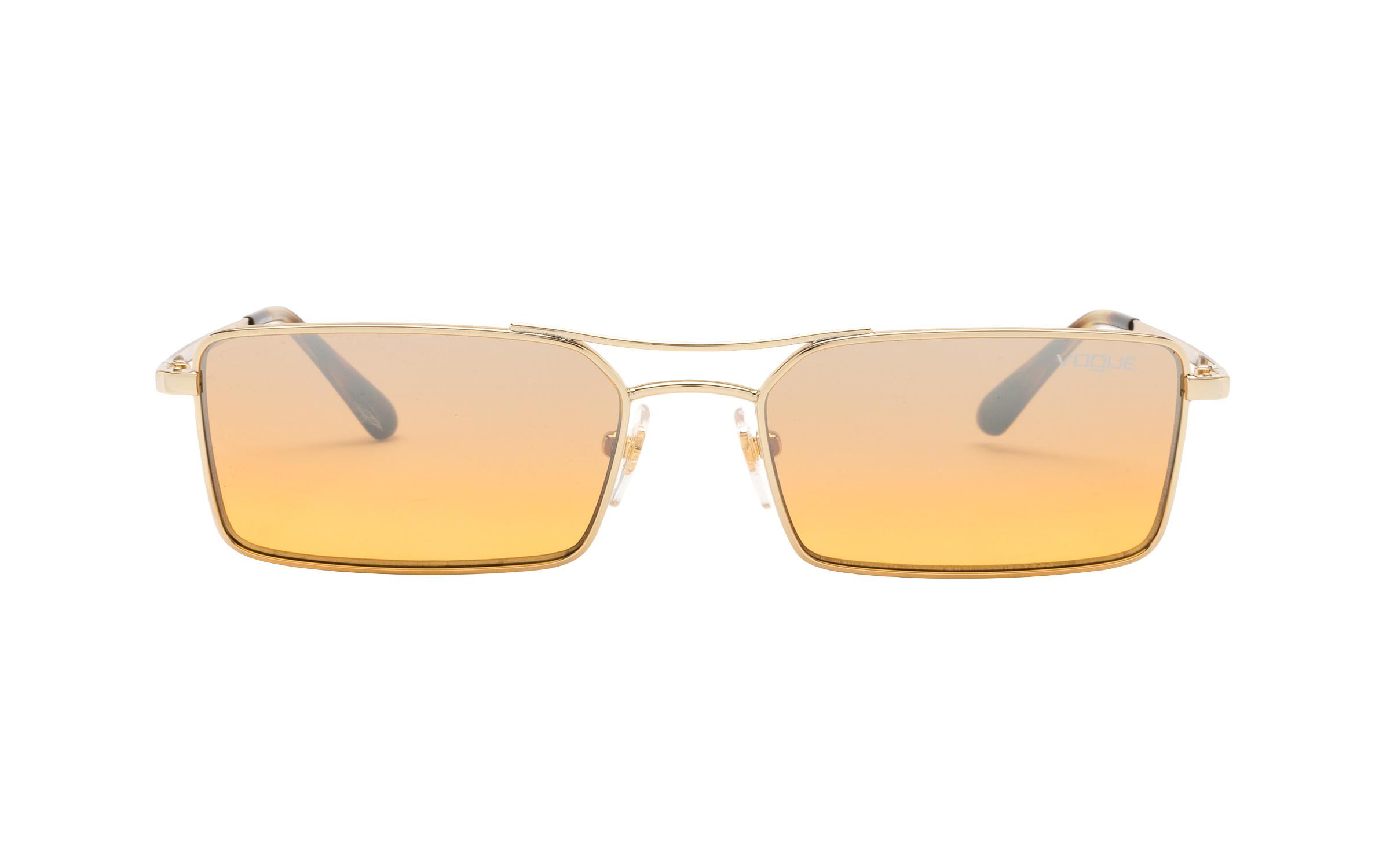 http://www.coastal.com/ - Luxottica Vogue VO4106-S 848/7H 55 Sunglasses in Pale Gold | Plastic/Metal – Online Coastal