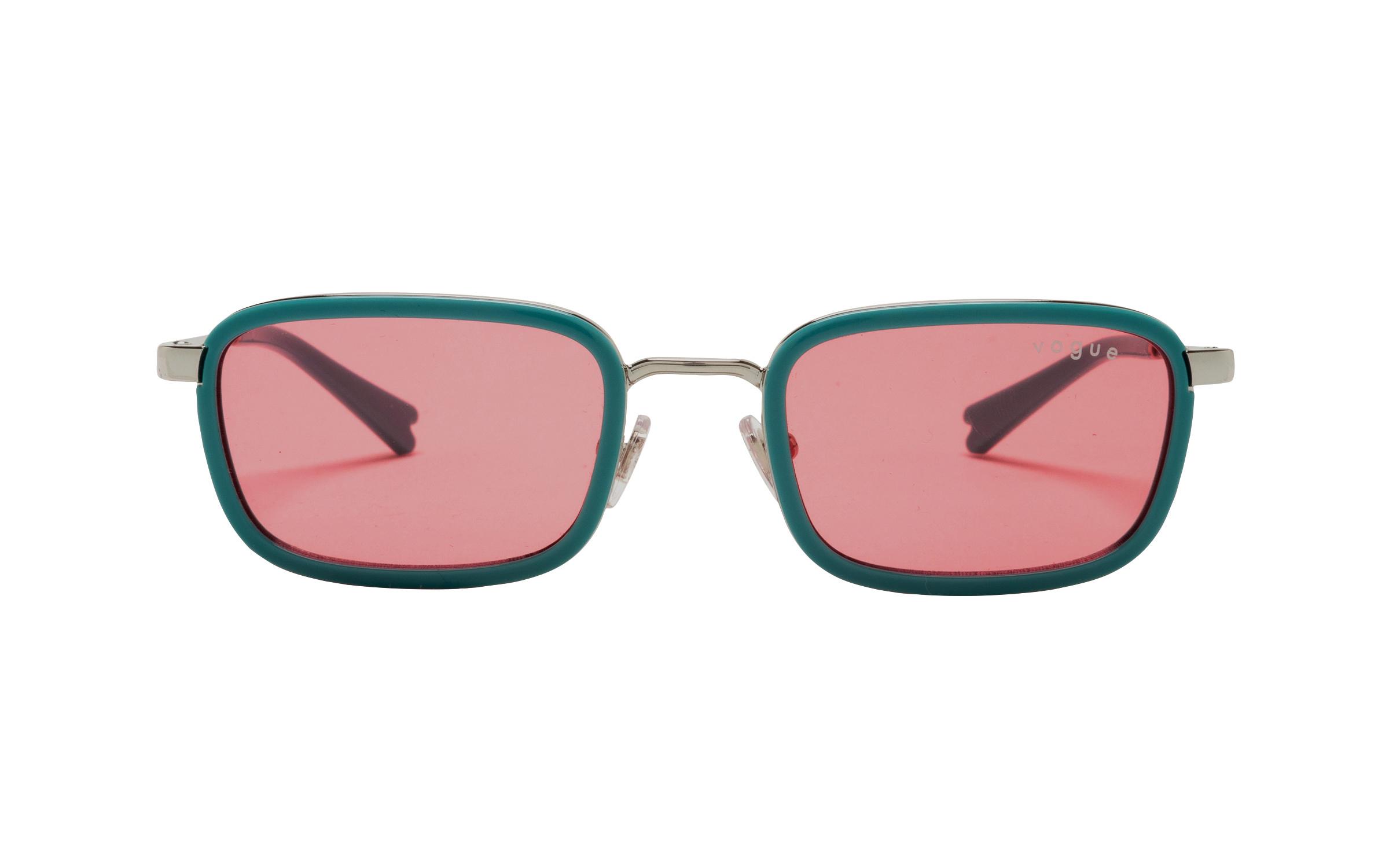 coastal.com - Vogue VO4166S 512284 47 Sunglasses in Silver Green | Metal – Online Coastal 111.00 USD