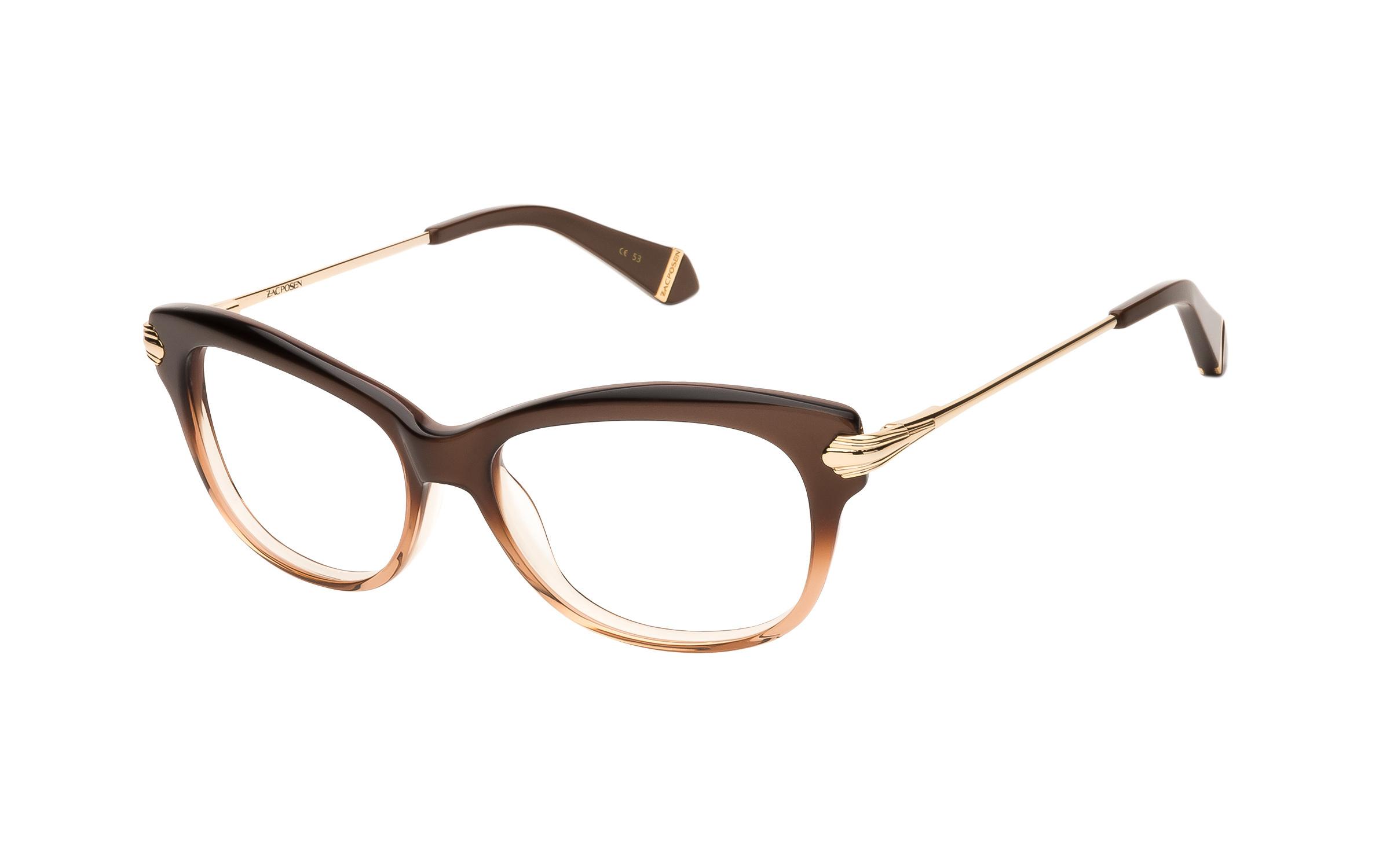 Zac Posen Lisa (53) Eyeglasses and Frame in Brown/Clear   Metal - Online