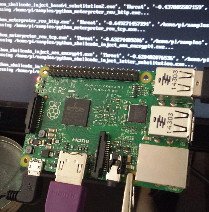 Raspberry Pi 2 running Cylance OEM Engine