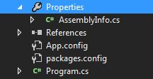 AssemblyInfo.cs in Visual C# Project