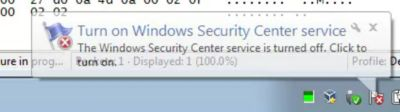 CryptoWall disabling Windows Security Center