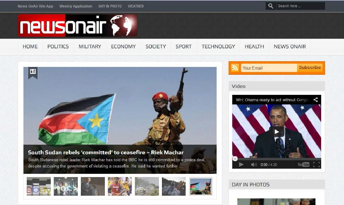 NewsOnAir Fake News Site