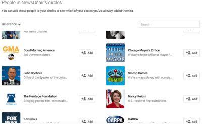 NewsOnAir Google+ Circles