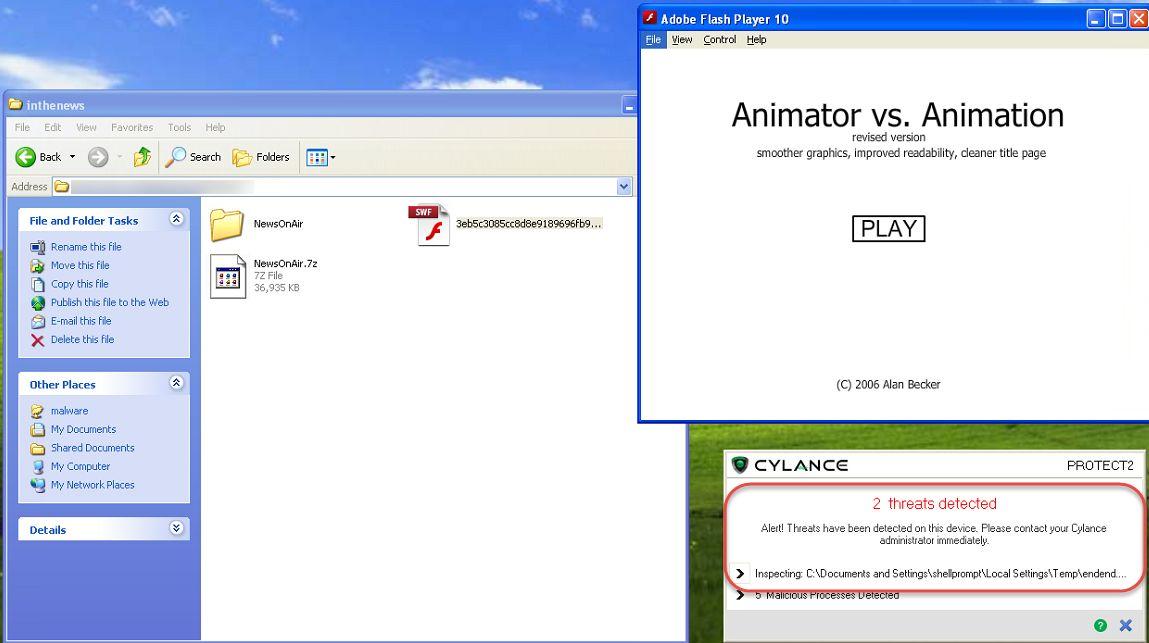 Fake Flash Video running while installing Malware