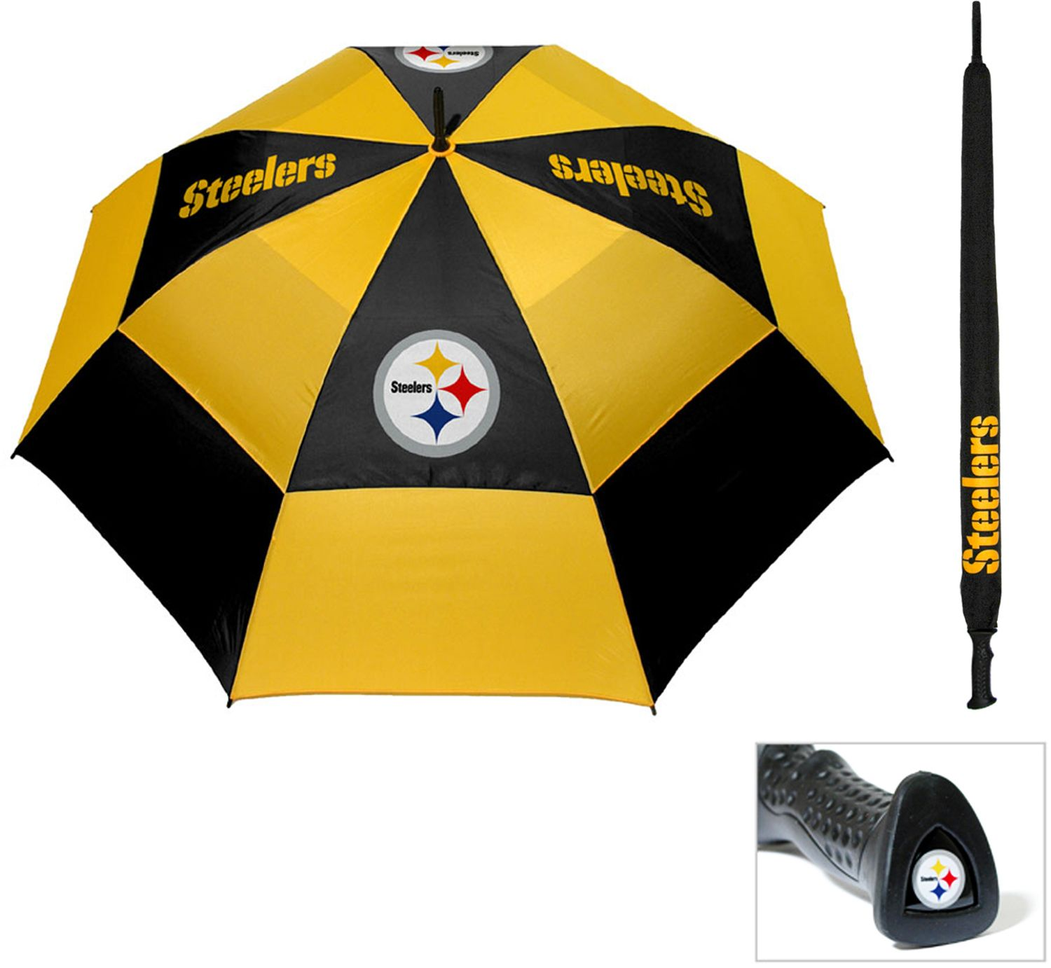 noImageFound ???  sc 1 st  DICKu0027S Sporting Goods & Team Golf Pittsburgh Steelers 62u201d Double Canopy Umbrella | DICKu0027S ...