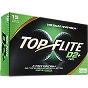 Top Flite D2+ Feel Golf Balls – 15-Pack – Prior Generation