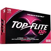 Top Flite D2+ Diva Pink Golf Balls – 15-Pack – Prior Generation